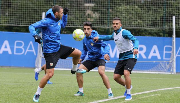 Entrenament d'aquest matí de l'FC Andorra a Encamp