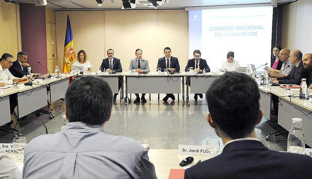 La darrera reunió de la Comissió nacional de l'habitatge.