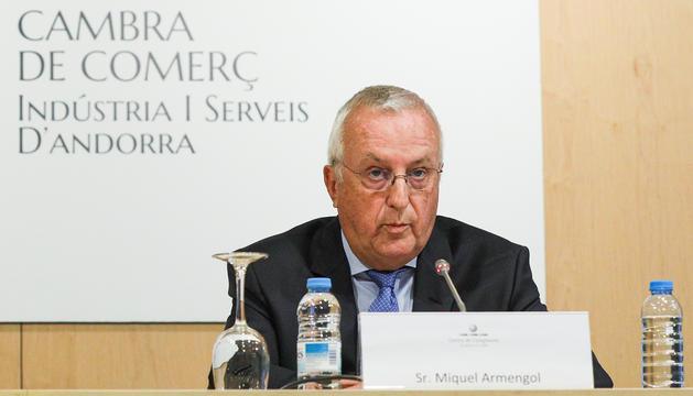 El president de la Cambra de Comerç, Miquel Armengol