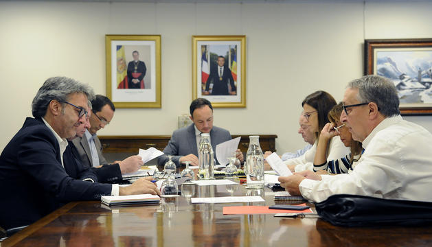 La reunió d'aquest matí de la Fundació dels Jocs dels Petits Estats d'Europa