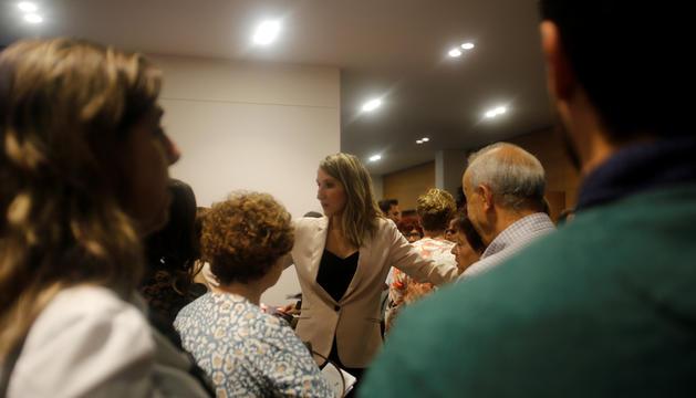 La presidenta de l'Associació Andorrana per la malaltia de l'Alzheimer, Montserrat Valls, a la 3ª edició de la Gala d'Alzheimer
