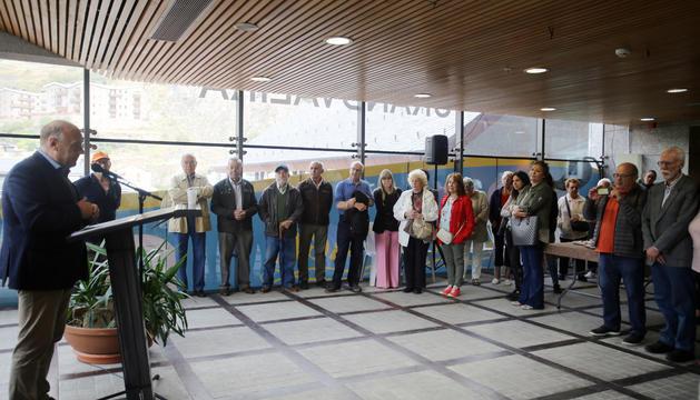 El cònsol major de Canillo, Josep Mandicó, durant el discurs a la catorzena trobada anual interparroquial d'hortolans