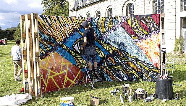 L'artista francès Morne, un dels participants.