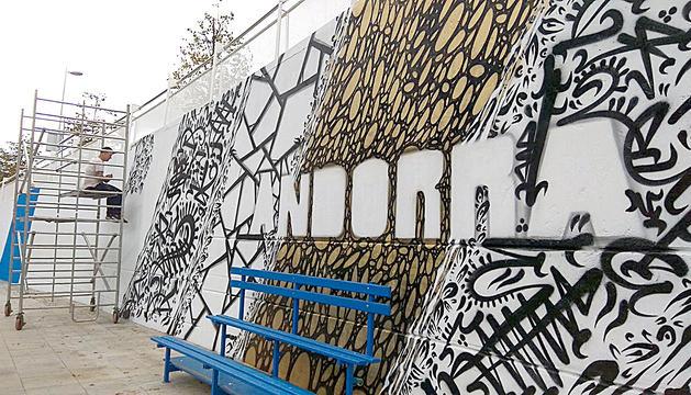 L'obra, de 55 metres de llargada, homenatja Andorra.