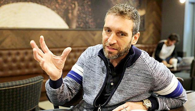 Ibon Navarro durant l'entrevista amb el Diari.