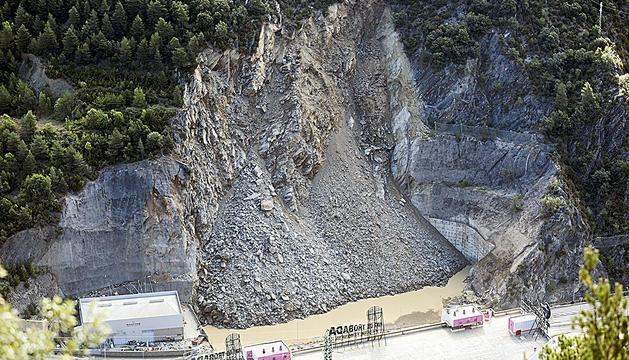 L'esllavissada a la CG-1 a l'altura del Punt de Trobada es va produir la matinada del 10 d'agost passat.