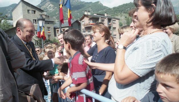 L'excopríncep Jacques Chirac durant una visita oficial a Andorra