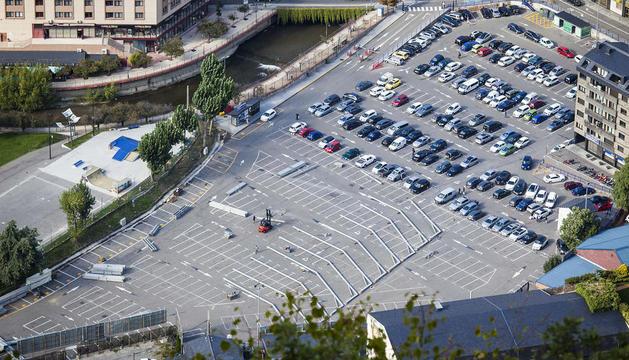 L'aparcament del Parc Central
