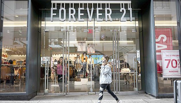 Un dels aparadors de Forever 21