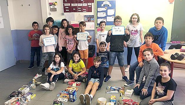 Els alumnes de l'escola andorrana de Sant Julià a l'aula d'alimentació sana