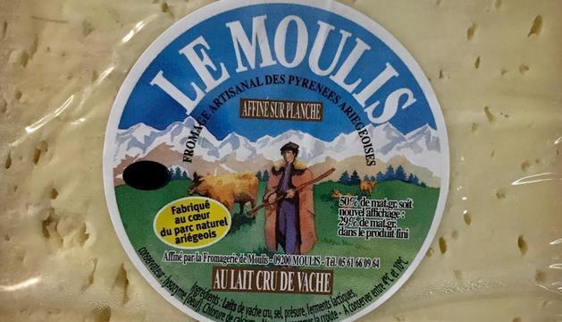 Pyrenees llet crua vaca Moulis Prestige de 4 quilos