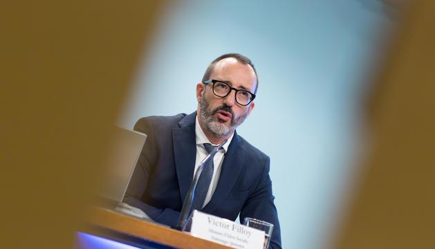 Víctor Filloy en la roda de premsa després del consell de ministres