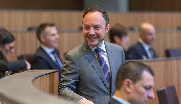 Elcap de Govern, Xavier Espot, va defensar el projecte del fons d'habitatge publicoprivat.