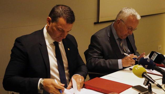 Gallardo i Armengol signen el conveni de col·laboració en l'àmbit d'infraestructures