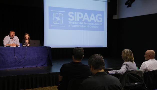 Assemblea del Sipaag que ha tingut lloc aquesta tarda a la Llacuna