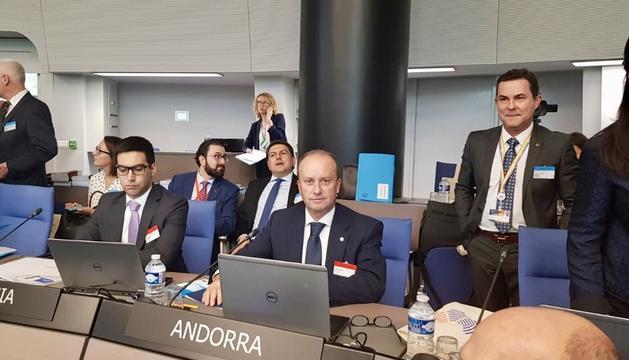 Rosell durant la conferència