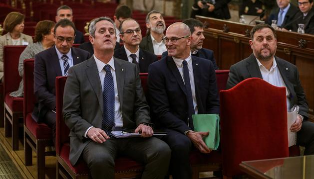 Els polítics jutjats durant el judici al Suprem espanyol