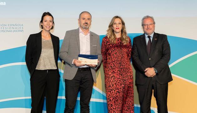 Els responsables de Caldea recullen el primer premi als Premis Wellness Experience
