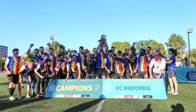 L'FC Andorra el dia que es va classificar per jugar la Copa contra el Vilassar