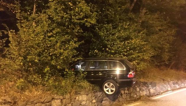 Un conductor s'accidenta a Erts i es dona a la fuga