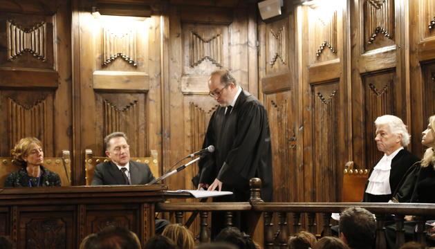 El fiscal general, Alfons Alberca, durant el seu discurs a l'obertura de l'any judicial a la Casa de la Vall