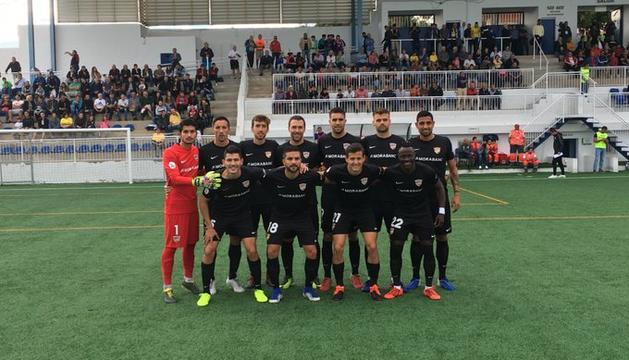 L'onze incial de l'FC Andorra a Oriola.
