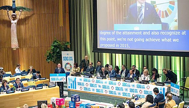 El cap de Govern, Xavier Espot, intervé en un fòrum de la 74a Assemblea de l'ONU.