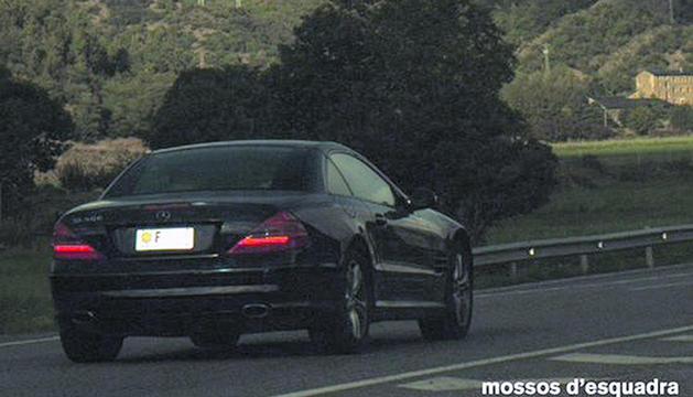 El vehicle denunciat pels mossos d'esquadra