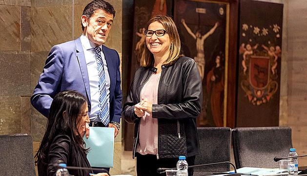 Josep Àngel Mortés amb Sandra Tudó.