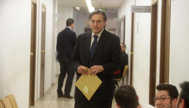 L'advocat Josep Antoni Parramon, després d'una vista el 2016.