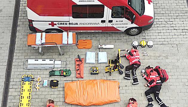 Imatge de la Creu Roja seguint la tendència mundial.