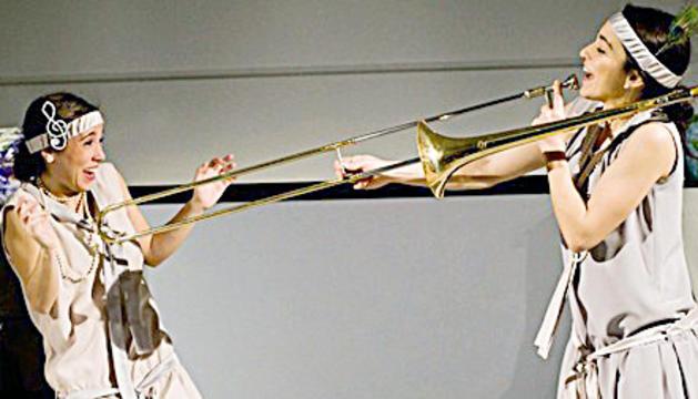 La companyia Viu el Teatre, a l'espectacle 'Cinemúsica'.