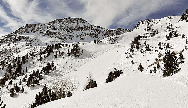 Una de les pistes d'esquí d'Arcalís