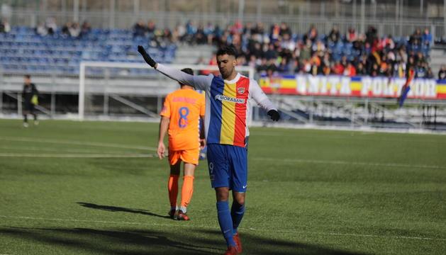 Ernest Forgas, autor del primer gol de l'FC Andorra.
