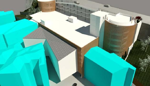 Una recreació del futur aparcament que unirà el carrer de l'Obac amb la carretera general 2