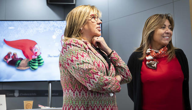 Mònica Codina i Conxita Marsol han presentat el Poblet de Nadal
