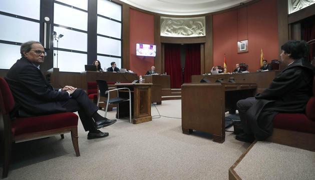 Quim Torra, ahir durant el judici al Tribunal Superior de Justícia de Catalunya.