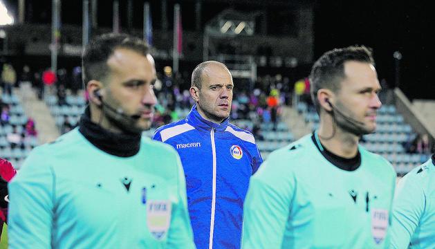 Ilde Lima, en els moments previs al partit de diumenge contra Turquia.