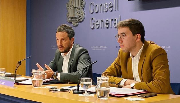 Pere López i Roger Padreny han comparegut al Consell