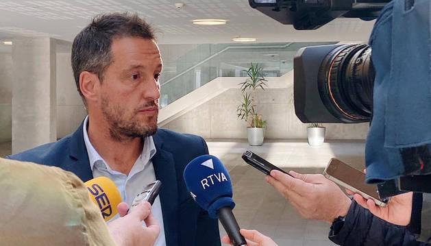 Pere López en les declaracions al Consell General.