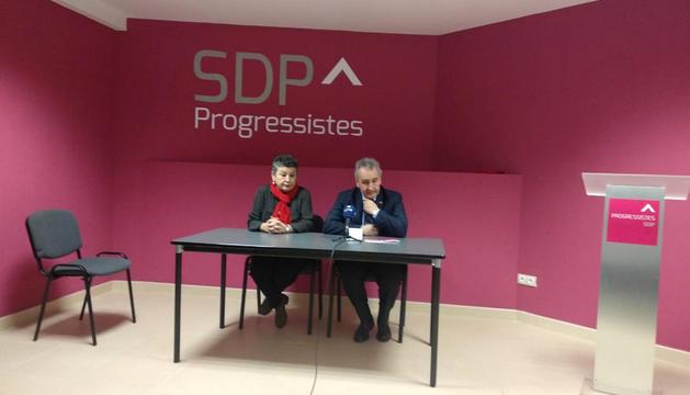Montoliu i Bartumeu, ahir a la seu d'SDP.