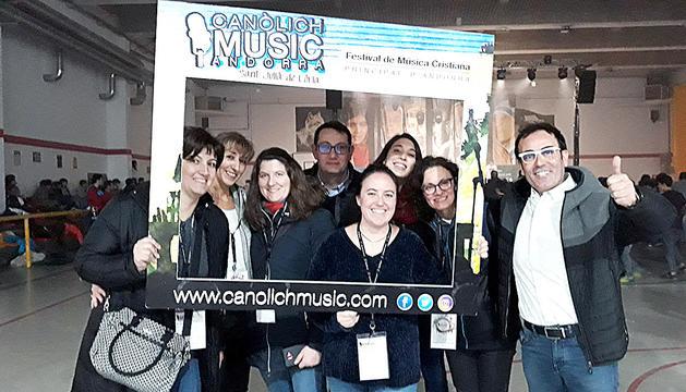 Els organitzadors del Canolich Music van gaudir del concert de Cesc