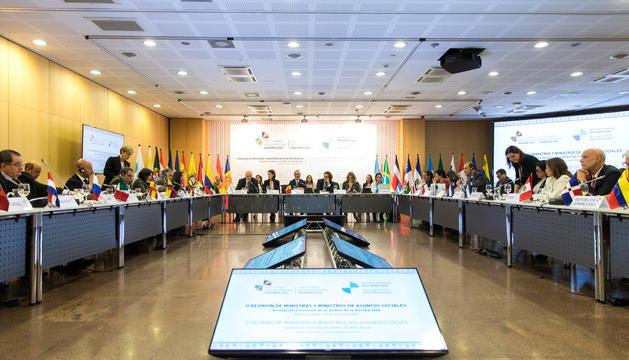 Primera reunió de ministres celebrada a Andorra.