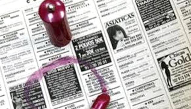 Anuncis de prostitutes en un diari espanyol.