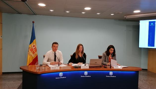 Els secretaris d'Estat durant la presentació del servei