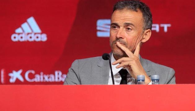 Luis Enrique Martínez, seleccionador espanyol, va comparèixer ahir per primer cop davant la premsa.