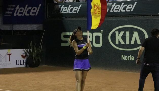 La jugadora de tenis, Victoria Jiménez,s'ha coronat aquesta matinada com la reina del Mundial Juvenil Yucatán FMT