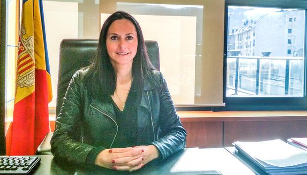 La candidata de Ciutadans Compromesos durant l'entrevista.