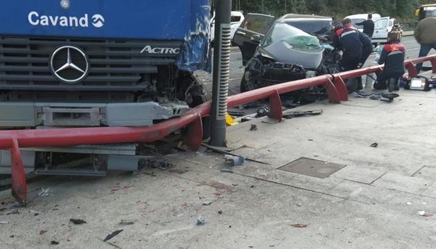 L'accident al vial del Pobladó, a Santa Coloma