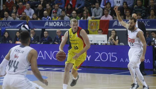 Daniel Clark, en la seva etapa al MoraBanc Andorra la temporada 2015-2016.